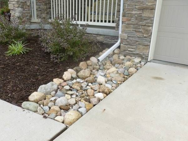 landscape dry creek ideas for down spouting - - Yahoo Image Search Results