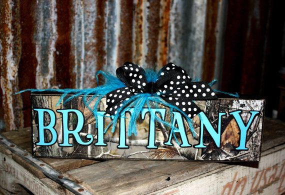 Personalized CAMO Rustic Name Plates Block Home By