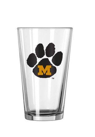 Missouri Tigers Paw M Logo Pint Glass