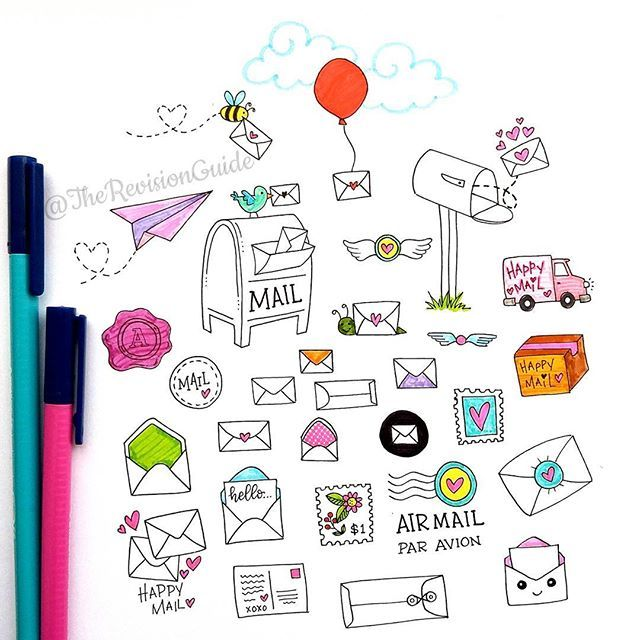 Apsi's sketchnotes and doodles @therevisionguide Happy mail doodle...Instagram photo | Websta (Webstagram)