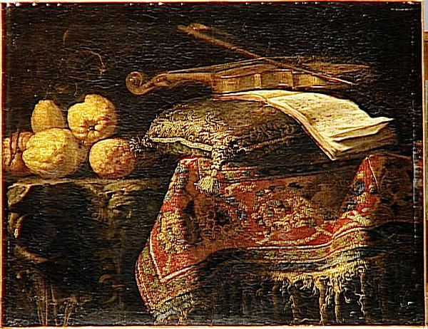 Il Maltese (Francesco Fieravino) ca. 1610-1670 Still life: Citron trees and violin, ca. 1660 Louvre