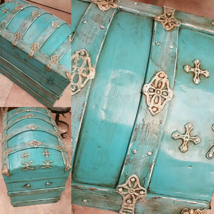 An old chest I painted for a client.