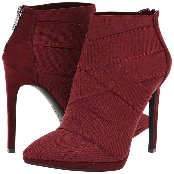 Jessica Simpson Breena High Heels, Burgundy ($65) ❤ liked on Polyvore featuring shoes, boots, ankle booties, heels, ankle boots, shoes and boots, burgundy, platform boots, heeled ankle boots and short boots
