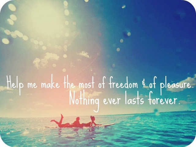 all for freedom and for pleasure nothing ever lasts forever lyrics