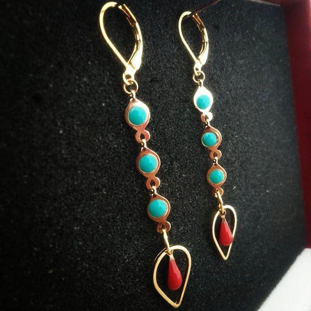 #BO #madebyfrance #jewels #earrings.  Modèle : Isis. 20 euros (frais de port inclus).