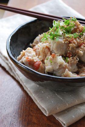 里芋のウメ~ぇサラダ♡ by 1646 [クックパッド] 簡単おいしいみんなのレシピが251万品
