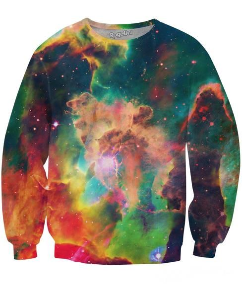 Get your Sexy Sweater in all over print galaxy crewneck sweatshirt named after Star Wars planet in space by RageOn! and Nick Sanchez for Let's Rage Clothing!
