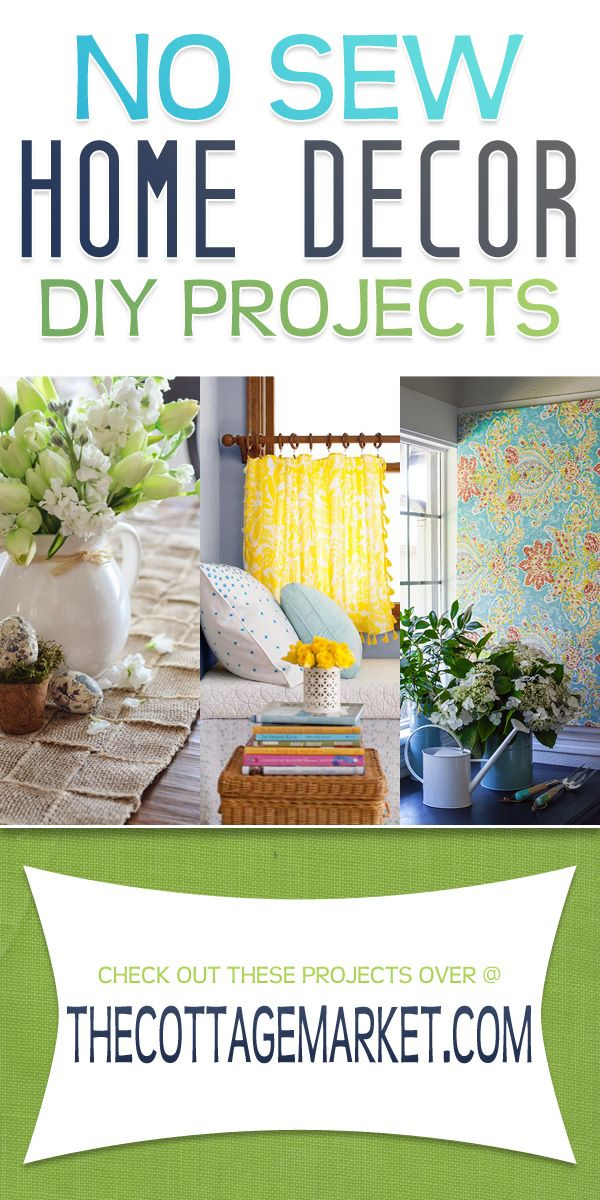 No sew home decor diy projects the cottage market no for Household sewing projects