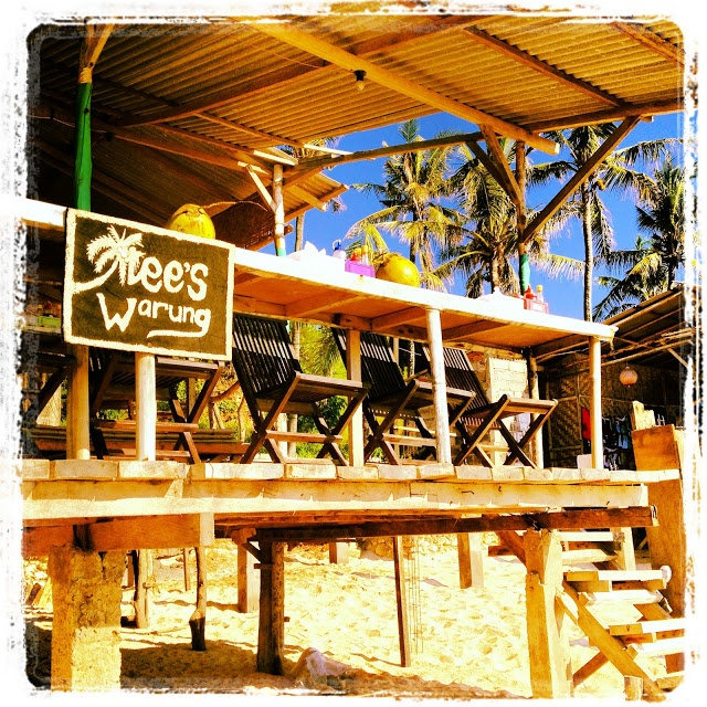Trees Warung at Balangan Beach is a great chill out place to watch the surf.