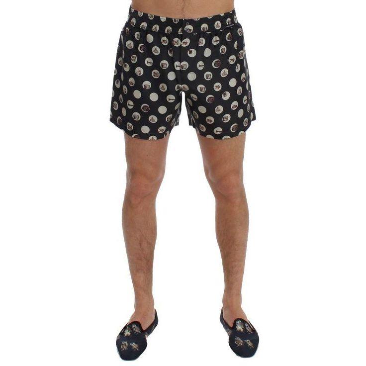 Dolce & Gabbana Black Polka Dotted SILK Pajama Shorts