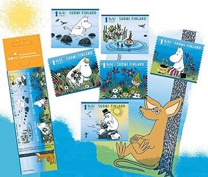 Summer in Moominland - a booklet of six stamps