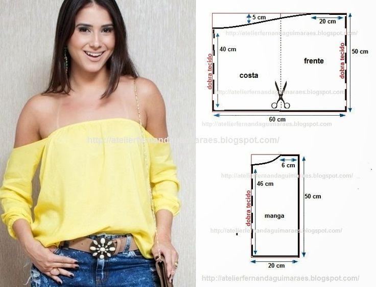 Blog Atelier Fernanda Guimaraes: Modelagem Blusa Ciganinha