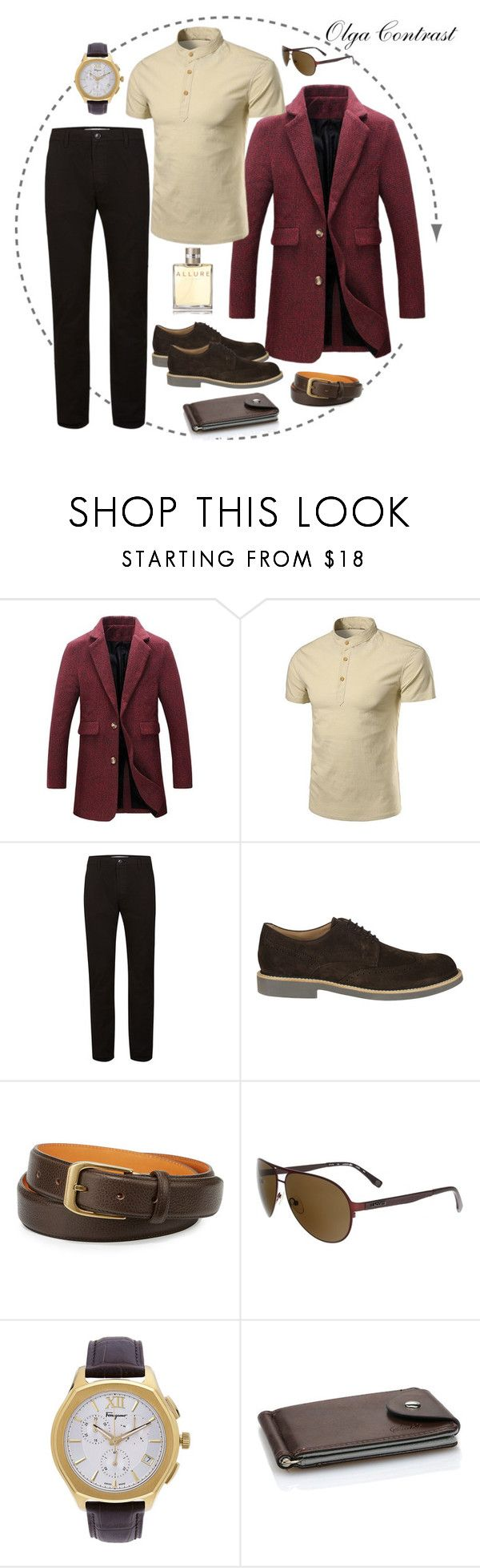 """12.05.2017"" by olgacontrast on Polyvore featuring Topman, Tod's, The British Belt Company, Lacoste, Salvatore Ferragamo, Chanel, men's fashion и menswear"