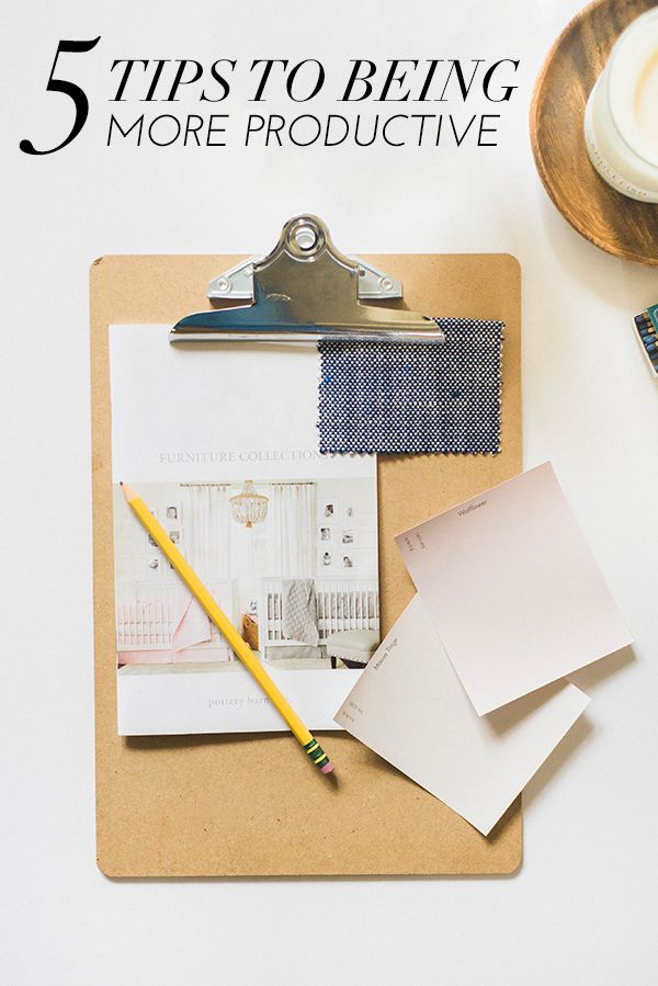 5 tips to being more productive | via @glitterguide / theglitterguide.com
