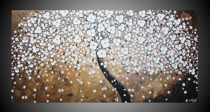 120 x 60 cm Grote abstracte acryl schilderijen op door acrylkreativ, $339,00