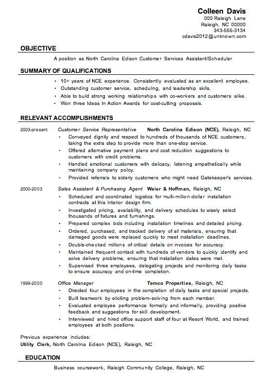 Pin by Carissa Debra Resume Design on Professional Resume Examples - Example Of A Resume Summary
