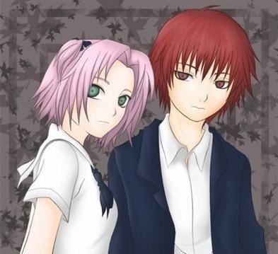 Sakura com o primo, foto em posse dos Akasunas. Perdição 1 e 2.
