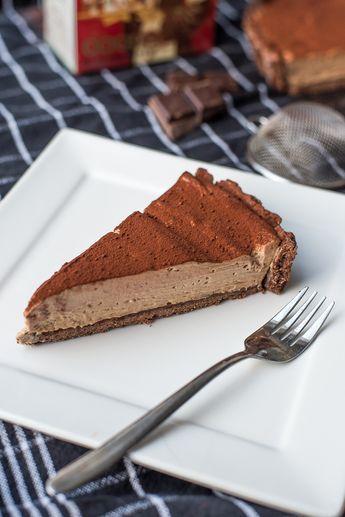 Brownietaart met chocolademousse