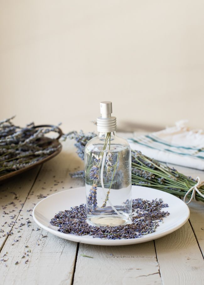 Learn how to dry lavender and make an easy and inexpensive lavender linen spray to spruce up your linen closet and make your ironing smell fantastic.