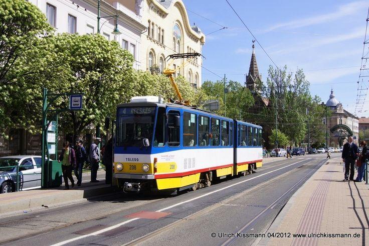 208 Szeged Anna-kút 20.04.2012 - (ČKD) Tatra KT4D - ex-57 / CV Cottbus
