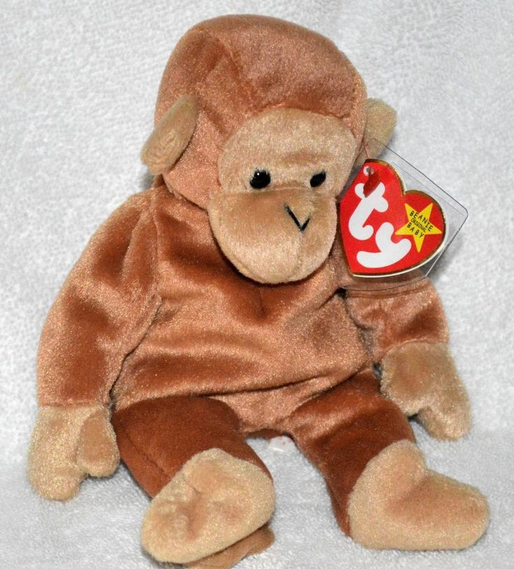 TY Beanie Baby Rare Original #Bongo the #Monkey 1995 Mint Protected Tag Retired #Ty  thinking we have some of these beanies WJ