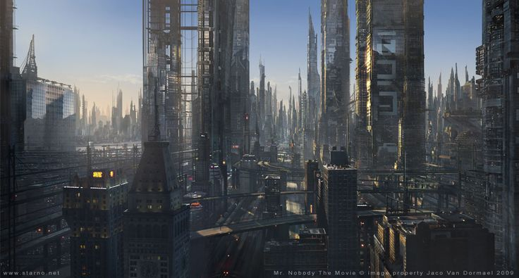Futuristic cityscape matte paintings pinterest for for Space matte painting