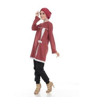 Baju Blus Tunik ALNITA AA-04 Maron
