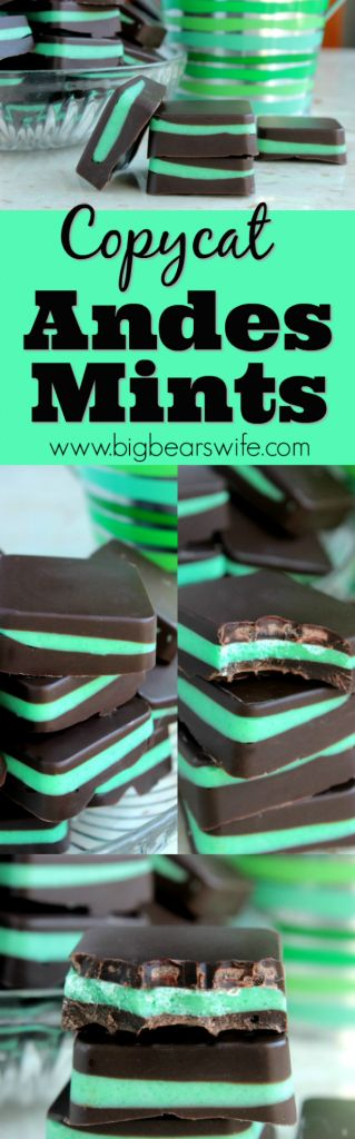 Copycat Andes Mints - If you're a fan of Andes Mints ®, this copycat version is going to be your new favorite recipe. Quick, easy and quite possibly better than the store-bought version!