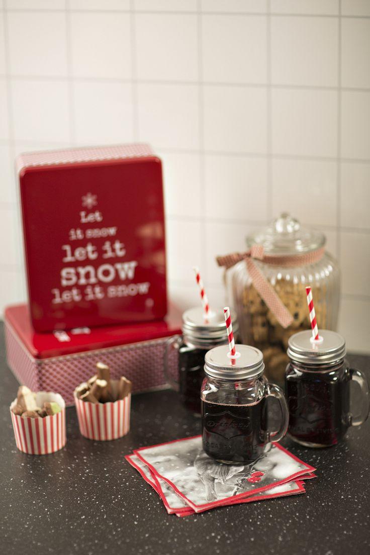 Kakeboks Let it snow rød   #Kremmerhuset