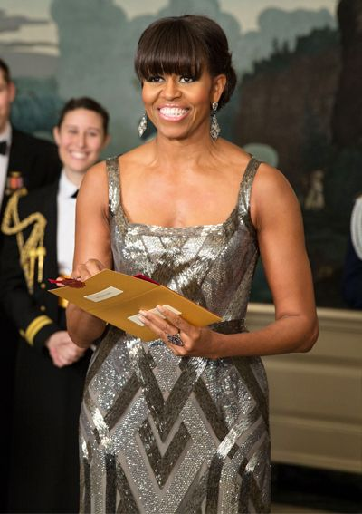 Happy Birthday, Michelle Obama! See Her 50 Best Looks - 2013 - Naeem Khan from #InStyle