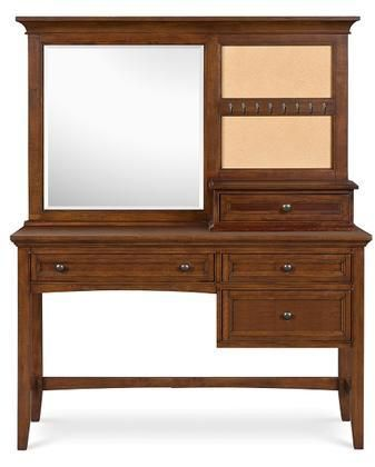 Y1873-48D Riley Next Generation Youth Desk with Vanity Mirror in Cherry