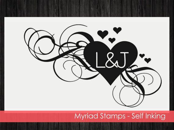 Heart Self Inking Stamp  Custom Address by LittlePrintsStamps