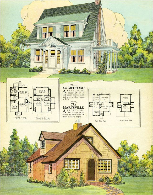 296 Best Images About Vintage House Plans On Pinterest