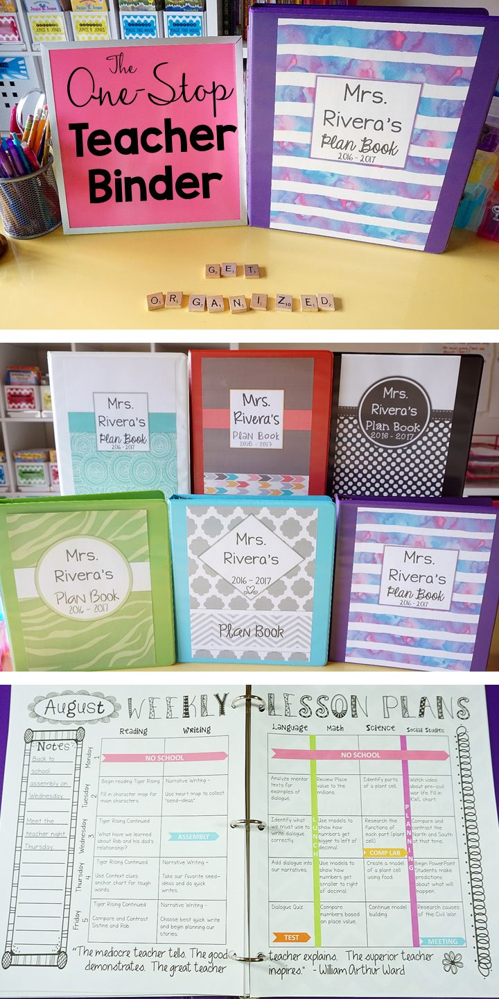 Teacher binder organization just got better! This One-Stop teacher planner has everything you need for classroom organization. This teacher plan book has lesson plan templates, 70+ planner covers to choose from, lots of classroom forms, calendars, and more! Love that it is EDITABLE with FREE updates for LIFE! Lesson plans will never be boring again!