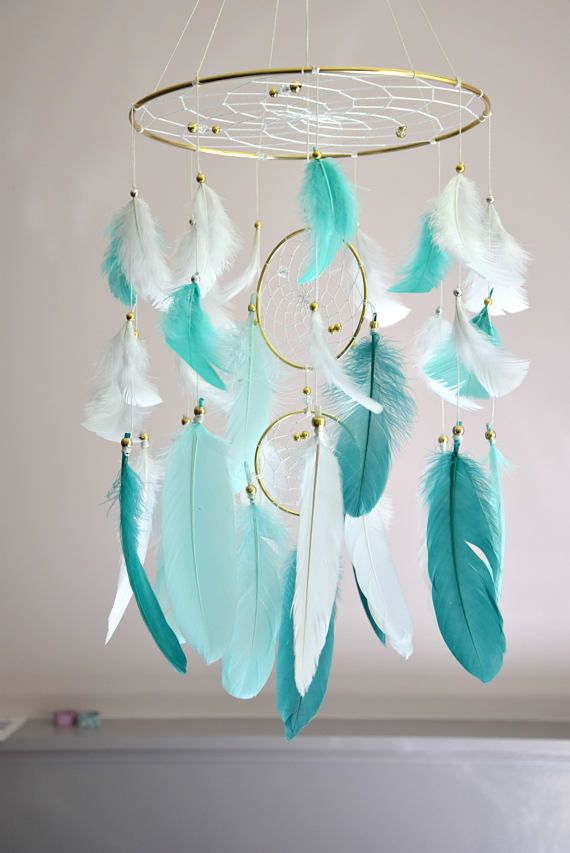 Dream Catcher Baby Mobile Baby Nursery Decor Nursery Feather