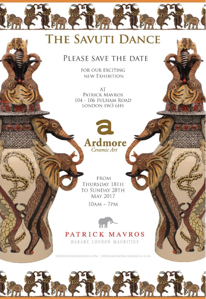 We are thrilled to be exhibiting again in London. Please save the date to come join us at Patrick Mavros' flagship London store for 'The Savuti Dance', a collection of new ceramics from the artists at Ardmore.