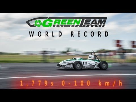 Stuttgart students hit 100 km/h in 1.779 seconds to claim EV acceleration record