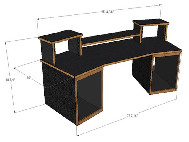 home studio desk design. Recording Studio Mixing Desk for Digital Audio Workstations and most  control surfaces Made by SCS Best 25 desk ideas on Pinterest Design competitions