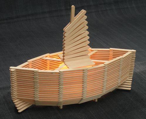 craft stick boat
