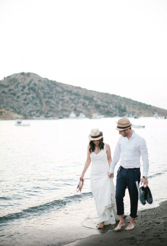 Walking on the seashore with your wedding gown is priceless!  Recommended!  #olegcassini #gümüşlük #bodrum #turkey