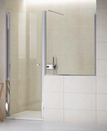 Porta con fisso sopramuretto Soluzioni cabine doccia