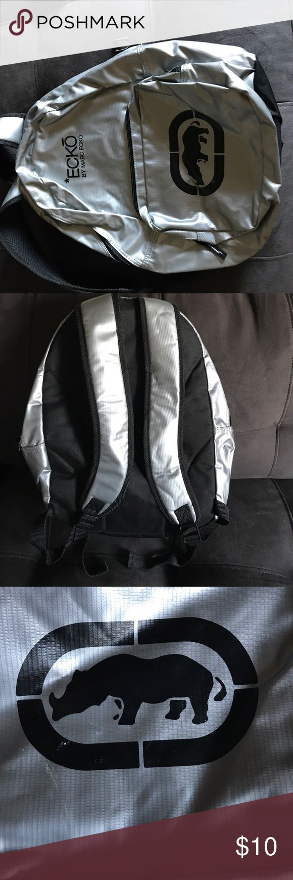 Ecko book bag Silver and black Ecko bookbag Ecko Unlimited Bags Backpacks