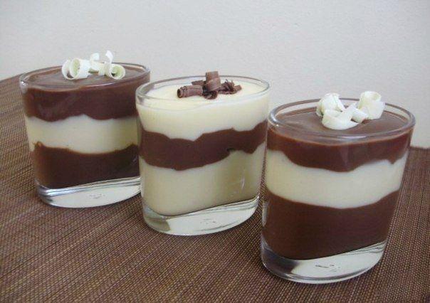 Шоколадно-ванильный пудинг