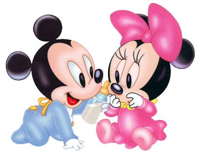 Disney babies clip art clipart in color black 39 n 39 white pooh 39 s hundred acre wood pooh - Photo minnie et mickey bebe ...
