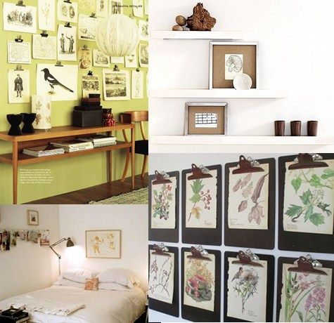 Ideas For Hanging Pictures Without Frames. Cheap Do It Photo Styling ...