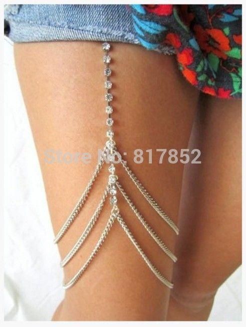 Бесплатная доставка стиль L009 посеребренные серебряный горный хрусталь ног сеть тела ювелирные изделия 2 цвета купить на AliExpress