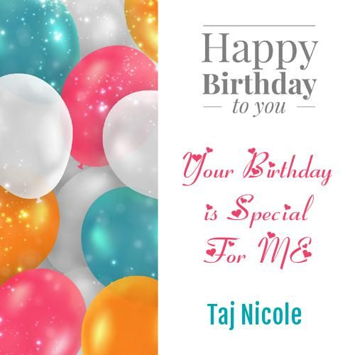 Happy Birthday Balloon Greeting With Quote And Name