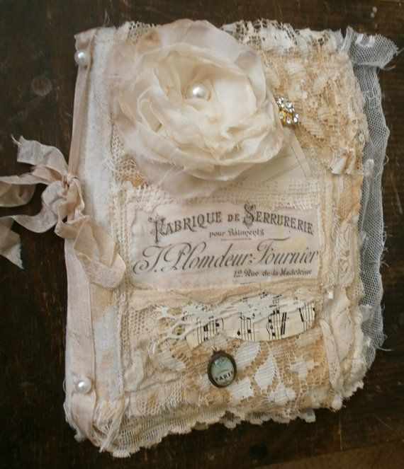 Frayed and tattered lace book pdf files by Lilla on Etsy, $5.00