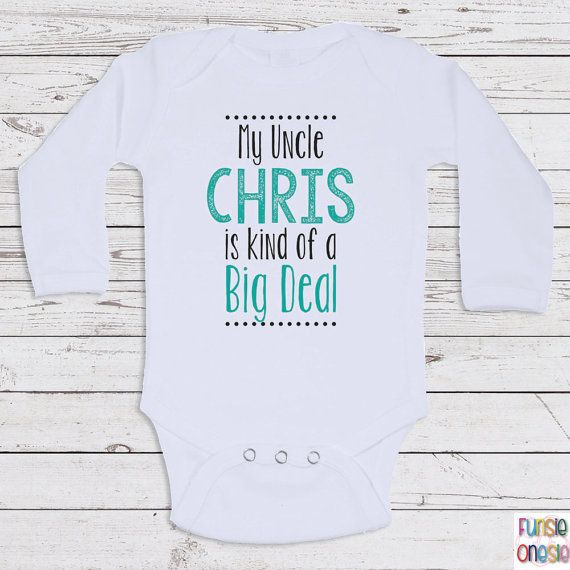 58 best gifts for him images on pinterest brother families and personalized baby clothes my uncle is short by newbornbabyclothes negle Choice Image