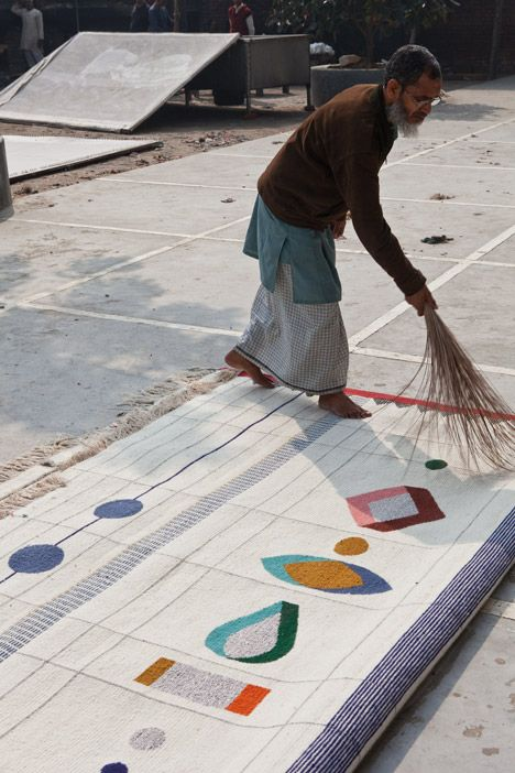 """Doshi Levien Rabari rugs - """"When we started the collection I really wanted it to have the joy and celebration of the Rabari's, they are the nomadic tribes in Gujurat,"""""""